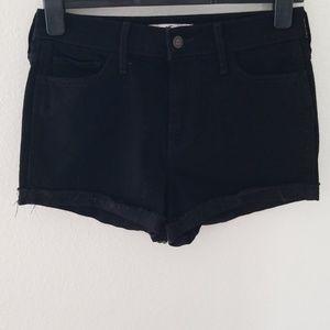Hollister High Rise Black Shorts